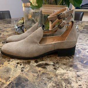 Free People Block Heel Suede Ankle Strap shoes